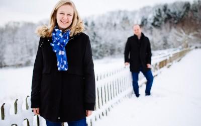 Engagement Shooting im Schnee mit Marika und Christian