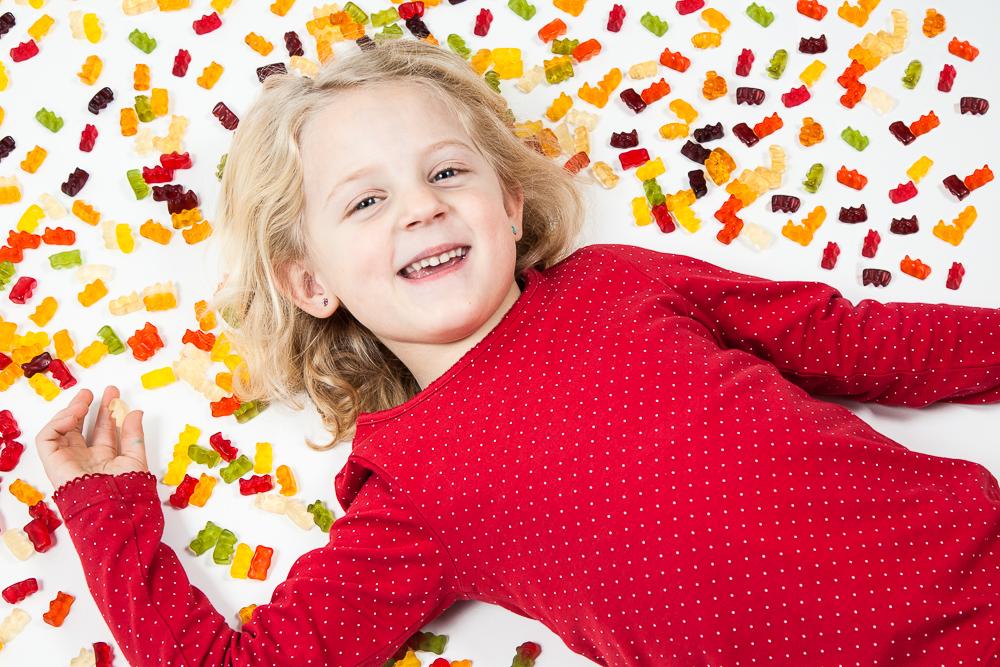 Ein Süßigkeiten Fotoshooting